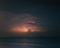 One of several shots I got of a Heat Lightning storm looming over the Gulf Coast