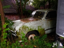 One of the abandoned vehicles at the family farm
