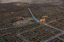 One of the best preserved examples of ancient Roman city planning Timgad Algeria