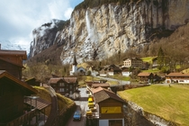 One of the best times to visit the Lauterbrunnen Valley is early spring Warm sun starts to melt the snow from the peaks creating the  waterfalls in the valley