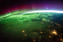 One of the clearest shots of an aurora from space courtesy NASA