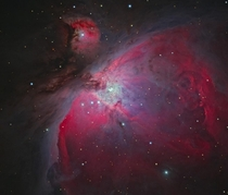 One of the closest black holes to our solar system is believed to lie here in the Orion Nebula at  light years away and nearly  times more massive than our sun Also shown are four massive stars huddled together at the center known as the Trapezium Image C