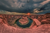 One of the coolest landscapes Ive ever shot - sunset at Horseshoe Bend
