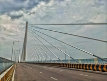 One of the eleven cable-stayed bridges of India on the river Chambal near Kota Rajasthan