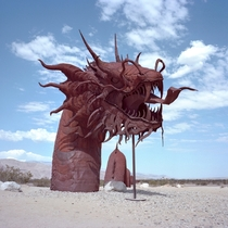 One of the enormous metal sculptures around borrego springs in the desert east of san diego  by Eyetwist