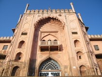 One of the Entrance Gates of Taj-ul Masajid literally meaning Crown among mosques in Bhopal India