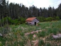 One of the few remaining buildings in the abandoned village of Portlock AK