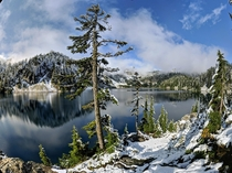 One of the first snow falls of the year  Snow Lake Washington