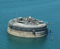 One of the  forts in the solent between the Isle of Wight and great Britain another of the  has been turned into a hotel