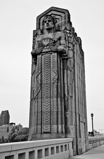 One of the Guardians of Traffic on the Hope Memorial Bridge in Cleveland Ohio