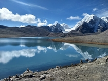 One of the highest lakes in the world Gurudongmar Sikkim India