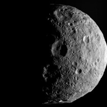 One of the last images Dawn obtained of the giant asteroid Vesta