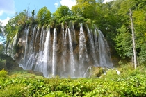 One of the many falls at Lake Plitvice Croatia