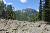 One of the many lonely open spaces of the West Elks Wilderness Colorado
