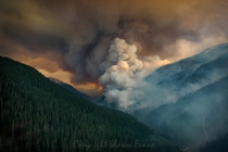 One of the many major fires burning across British Columbia Canada right now Boulder Creek Fire by Shawn Evans