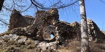 one of the many ruins of once beautiful castles in Slovakia