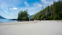 One of the many sandy beaches of Vancouver Island Canada