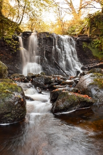 One of the many small waterfalls at Glenariff Forest Park Northern Ireland
