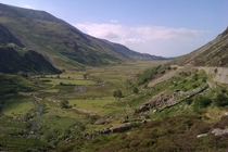One of the many valleys in Snowdonia National Park Wales