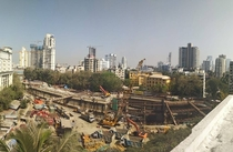 One of the  metrosubway lines under-construction in Mumbai This particular one goes right through the densely populated southern part of the city