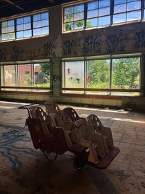 One of the more brighter rooms in an abandoned State Hospital in Pennsylvania