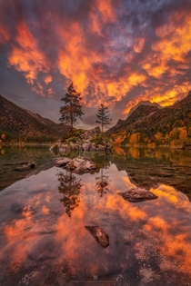 One of the most amazing sunsets I ever saw Lake Hintersee Germany  Instagram alex_lauterbach