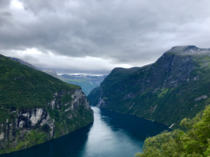 One of the most beautiful places Ive ever been Geirangerfjord Norway