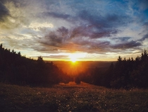 One of the most breathtaking sunsets ever Snowshoe Mountain West Virginia