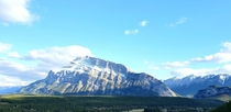 One of the most iconic mountains in Banff Alberta