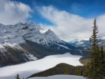 One of the most iconic places in the Canadian Rockies Peyto Lake Banff National Park Canada