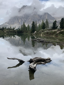 One of the most mysterious lakes I have been to Combined with perfect reflections in the Dolomites  x