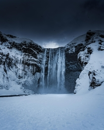 One of the most photographed waterfalls Skogafoss in Iceland  x