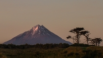 One of the most symmetrical volcanic cones in the world Mt Taranaki NZ