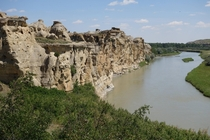 One of the newest UNESCO world heritage sites Writing-on-Stone Provincial Park Alberta Canada