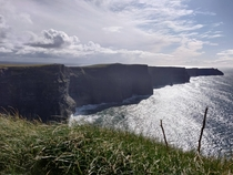 One of the rare times its both sunny and free of crowds Cliffs of Moher Ireland