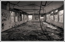 One of the rooms inside of an old Tuberculosis hospital in western NY