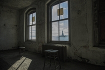 One of the wards on the south side of Ellis Island
