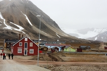 One of the worlds northernmost villages Ny-lesund Norway