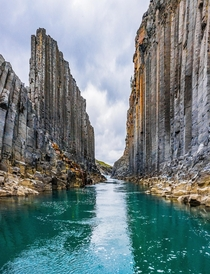 One of those amazing basalt canyons in Iceland  - Insta glacionaut