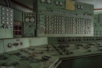 One of two control rooms inside a long abandoned coal power plant OC x