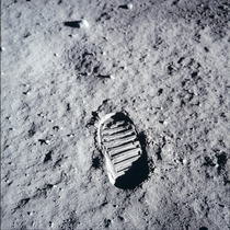 One small step - First footprint on the moon by Neil Armstrong