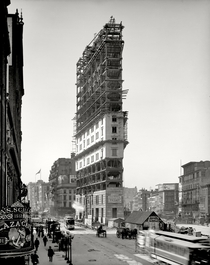 One Times Square under construction in  New York City