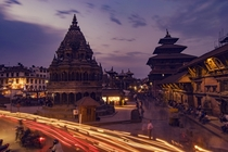 One wonderful evening at Patan Durbar Squareworld heritage site Nepal