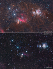 One Years progress on Orion - Same Camera and Mount