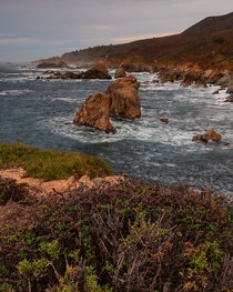 Only a few miles away from Carmel yet the central coastline of California looks so wild and beautiful