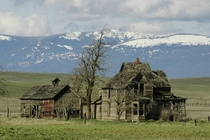 Only A Memory Abandoned Homestead with an amazing backdrop of the Cascades Mountains Photo by Swainboat