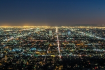 Only a portion of the vast expanse of Los Angeles as seen from the Griffith Observatory