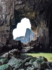 Only accessible at low tide Lydstep Caverns has to be one of the top beauty spots in Wales