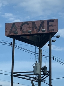Only thing left of the old ACME supermarket closed  yrs ago