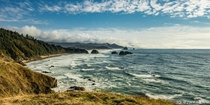 Only waited  days for the rain and fog to lift for this iconic shot of Ecola State Park in OR
